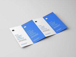 4 Fold Leaflet Free Mockup
