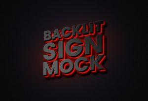 Backlit Sign Free Mockup