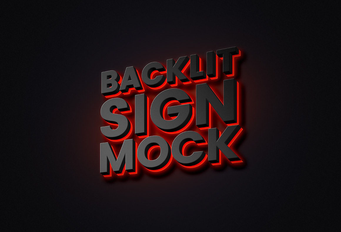 Backlit Sign Free Mockup