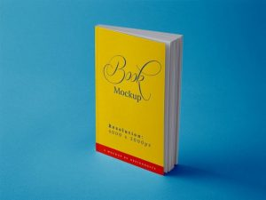 Free Paperback Book Title Mockup