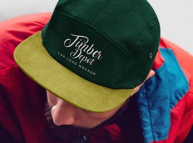 Cap With Embroidered Logo Free Mockup