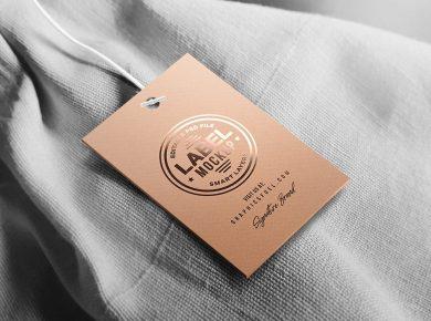 Clothing Tag Label Free Mockup