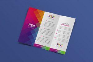 Corporate Tri-fold Brochure Free Mockup