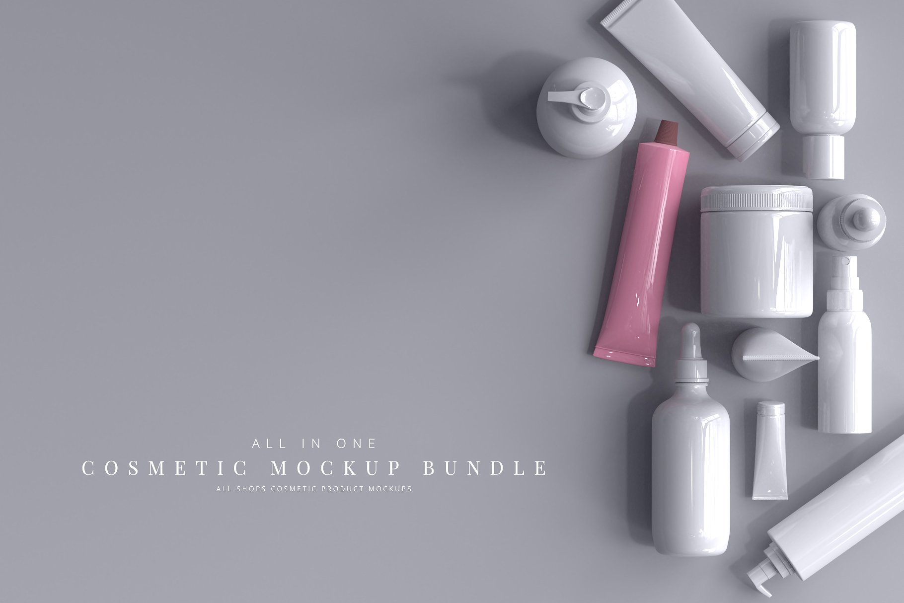 Cosmetic Product Mockup Bundle