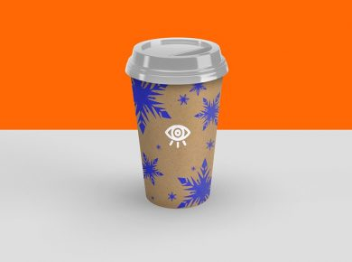 Craft Paper Cup Free Mockup