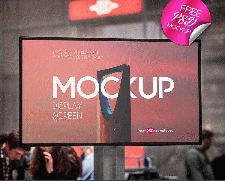 Display Screen Free Mockup