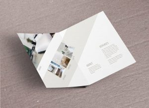 Floating Brochure Free Mockup