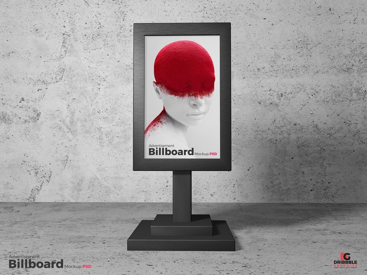 Billboard Sign Stand Free Mockup