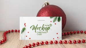 Free Christmas Card Mock-up