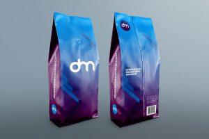 Free Coffee Bag Packaging Mockup