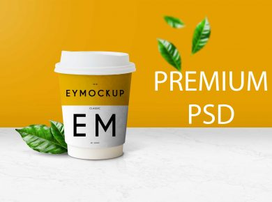 Free Coffee Cup New Mockup