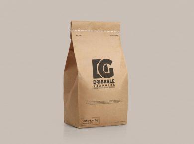 Free Craft Paper Bag Mockup