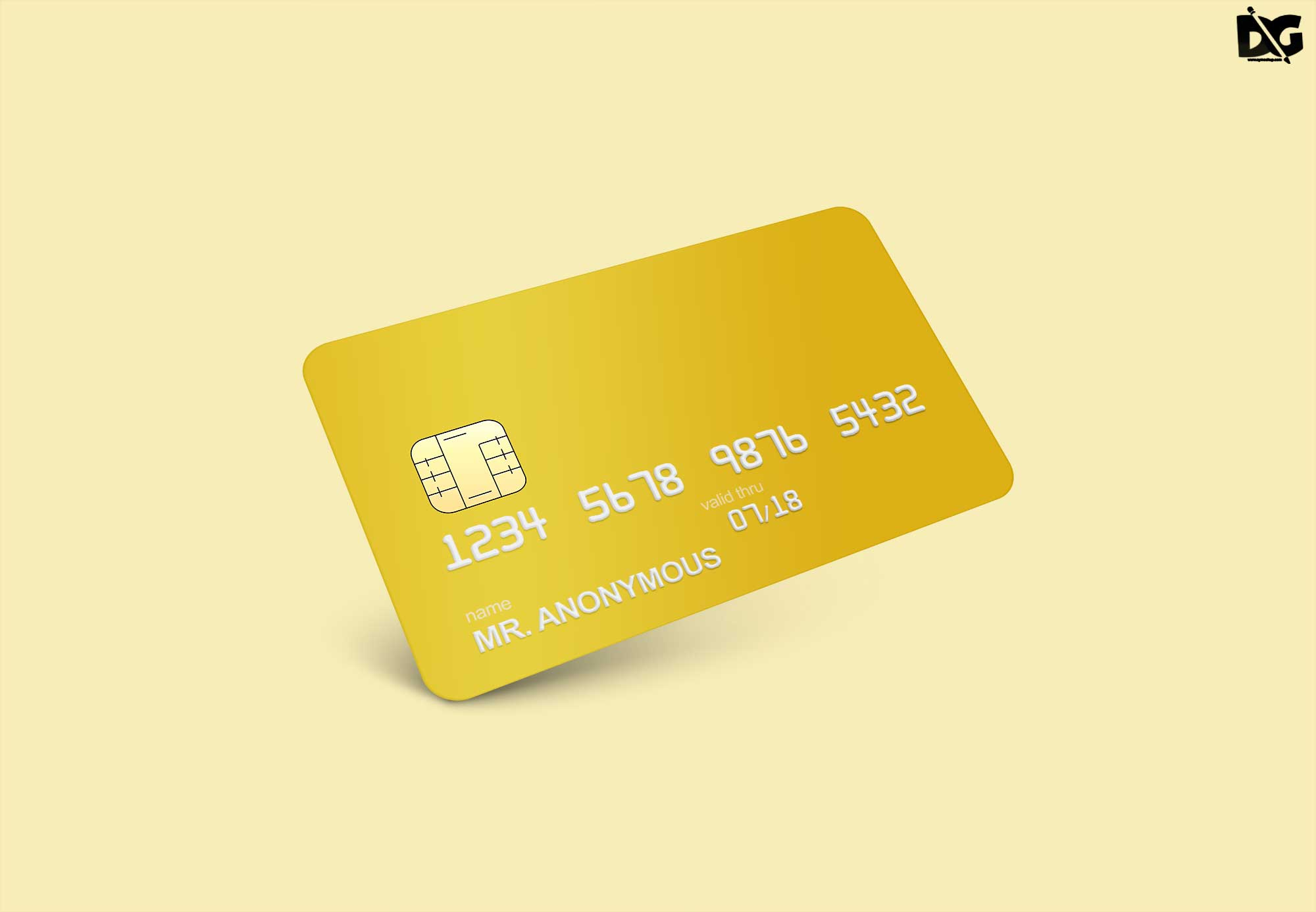Free Credit Card Mock-up