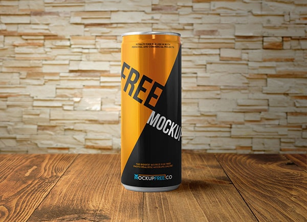 Energy Drink Can 2 Free Mockups