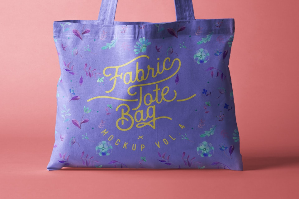 Tote Bag Fabric Free Mockup