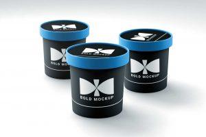Free Ice Cream Cups Mock-up