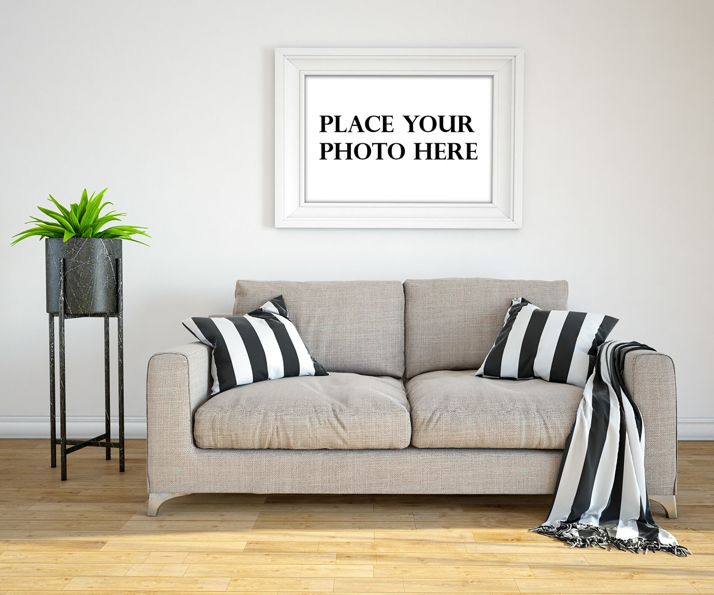 Free Interior Photo Frame Mockup