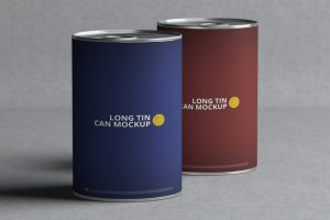Long Tin Can Free Mockup