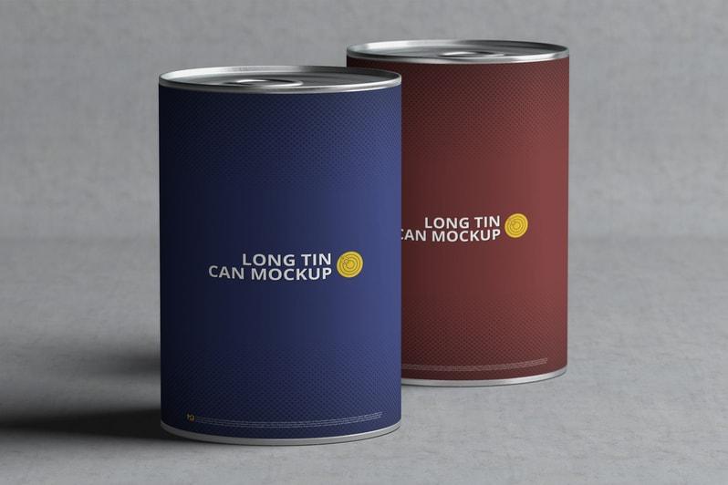 Long Tin Can Free Mockup