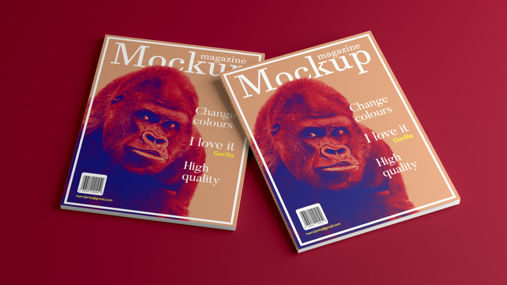 Free Magazine Cover Mockup with 3 Different shots