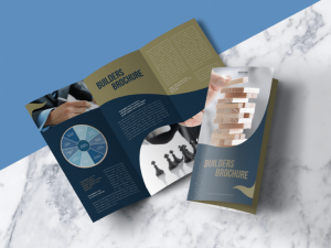 Free Modern Tri-Fold Brochure Mock-up