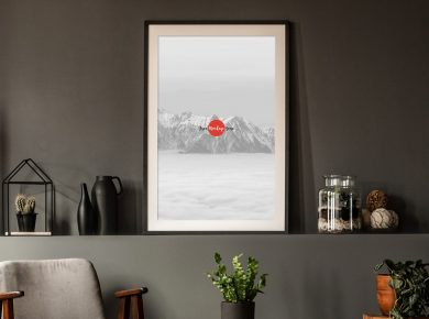 Free Office Interior Frame Poster Mockup