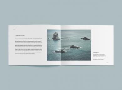 Free Open Brochure Mockup