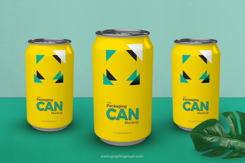 Free Packaging Can Bottle Mockup