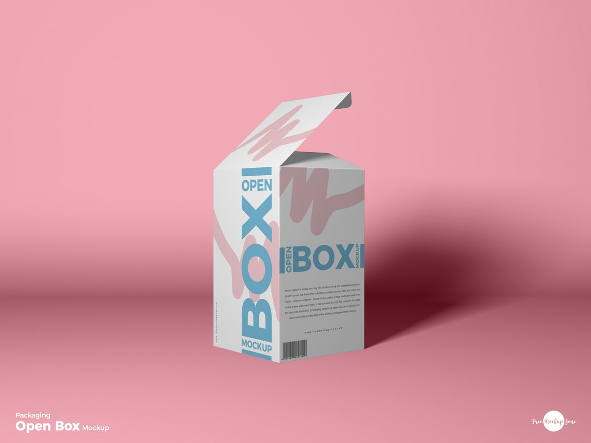 Open Box Packaging Free Mockup