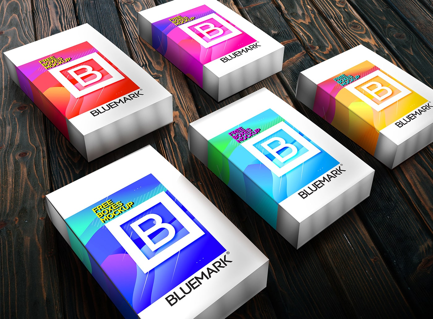 Free Product Boxes Mockup