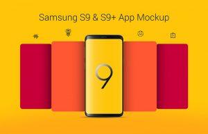 Free Samsung Galaxy S9+ App Screen Mockup