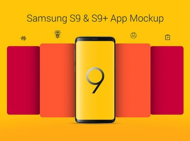 Free Samsung Galaxy S9+ App Screen Mockup