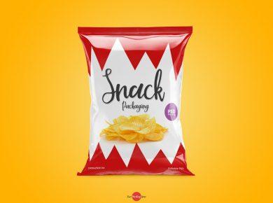 Free Snack Packaging Mockup