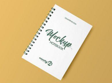 Free Spiral Notebook Free Mockup