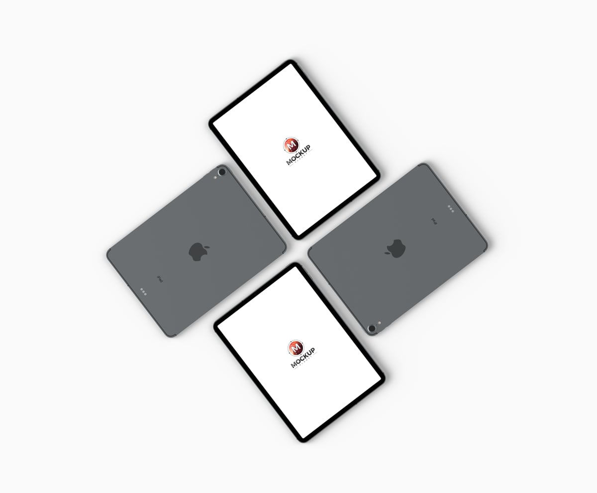 Top View iPad Pro Free Mockups