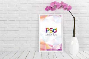 White Poster Frame Free Mockup