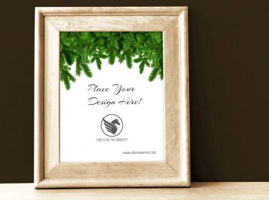 Wooden Picture Frame Free Mockup