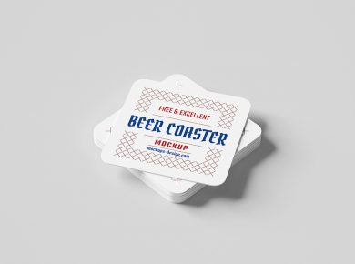 Square Beer Coaster