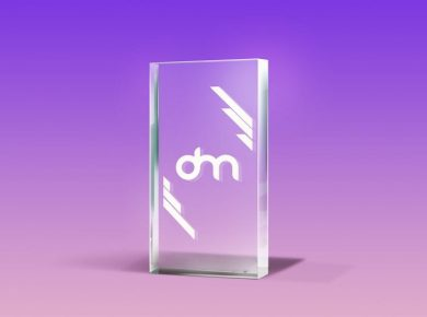 Glass Trophy Free Mockup