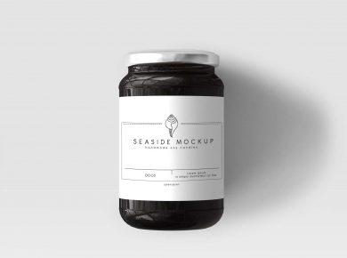 Pickle Bottle Label Mockup