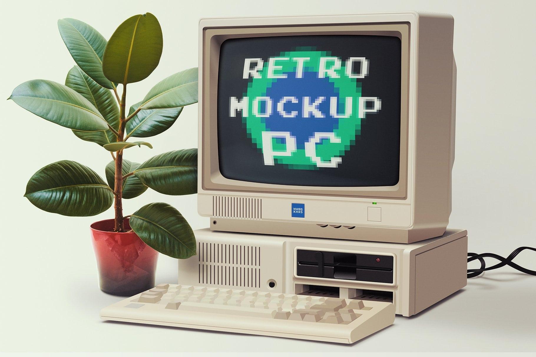 Retro PC Mockup