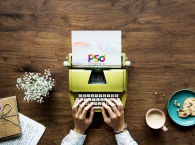 Typewriter Free Mockup