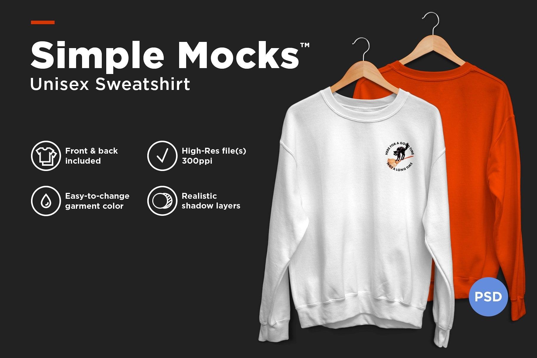 Unisex Sweatshirt Mockup