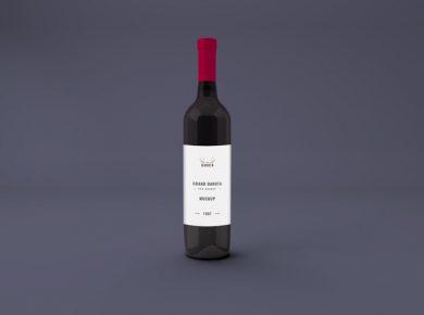 Wine Bottle Free Mockup