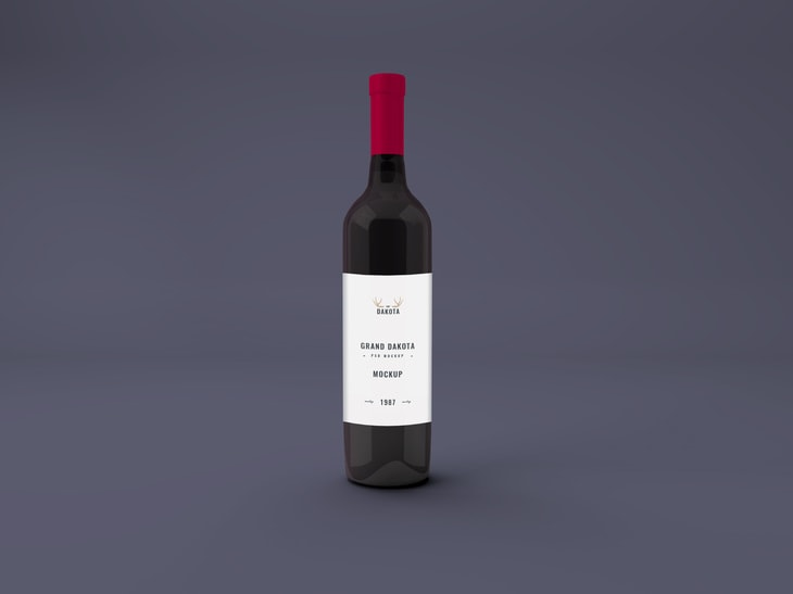 Wine Bottle Free Mockup