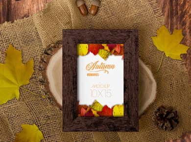 Autumn Frame Free Mockup