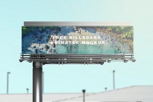 Billboard Animated Free Mockup