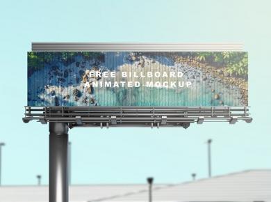 Billboard Animated Free Mockup