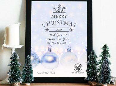 Free Christmas Poster Mockup