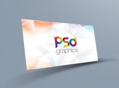 Floating Business Card Free Mockup